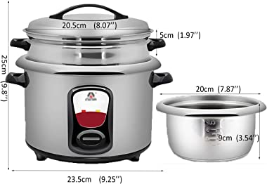 Rice Cooker Mini rice cooker (2.5L / 220V / 500W) stainless steel inner pot and steamer, rice cooker and warmer dormitory hou