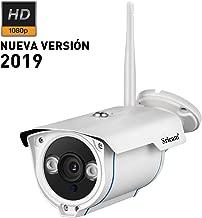 Sricam SP007 1080P HD Cámaras de Vigilancia WiFi P2P IP66 para Exterior y Interior Cámara IP CCTV WiFi Soporte Onvif con Visión Nocturna, Detección de Movimiento Compatible con iOS y Android, Blanco