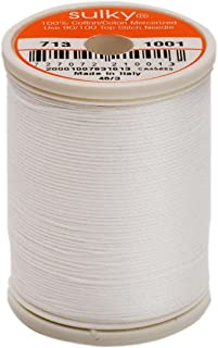 Sulky Of America 660d 12wt 2-Ply Cotton Thread, 330 yd, Bright White
