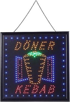 Cocoarm LED Leuchtschild Leuchtreklame Schild Neon Licht Fenster Tür Hang Sign Highlights Deko (DONER KEBAB)