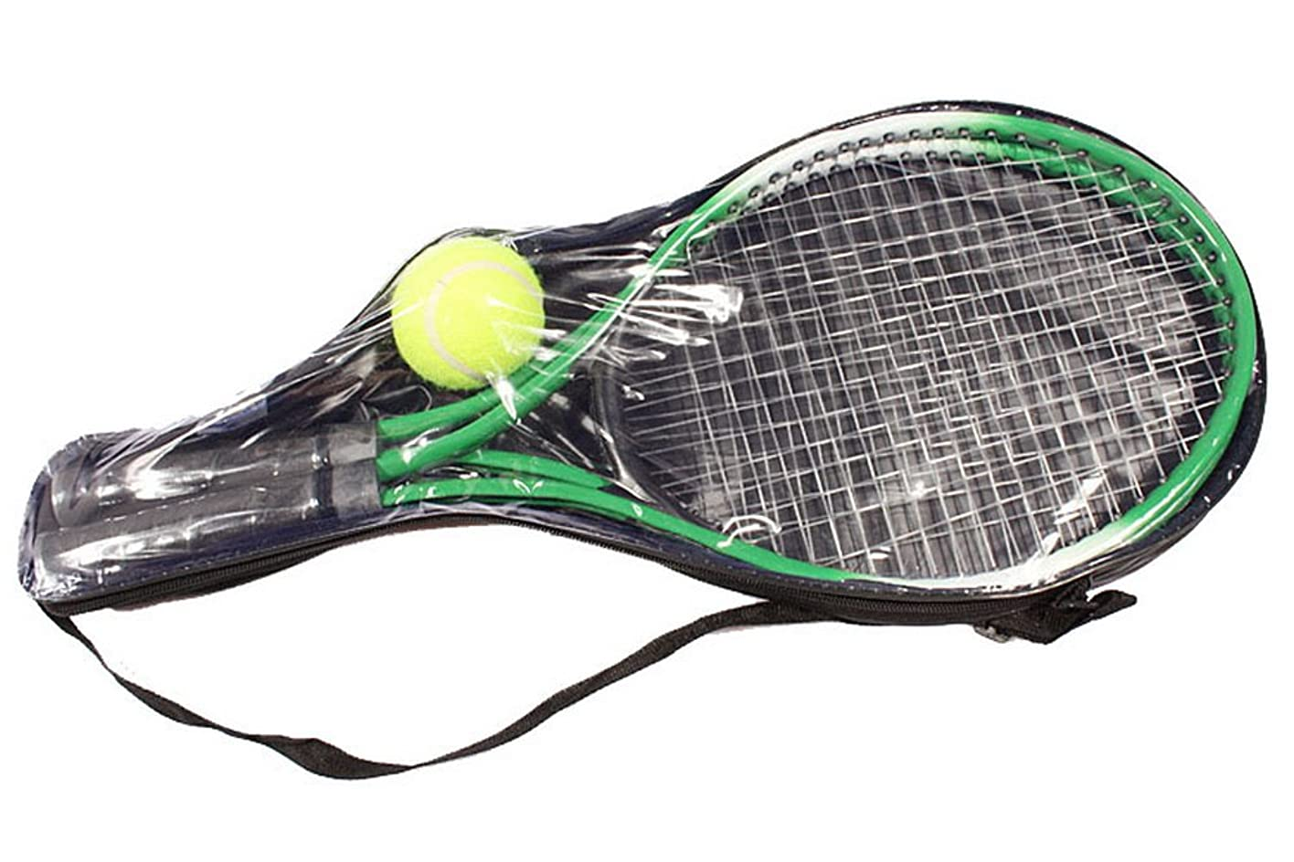 レイアウト飛び込むチョークテニス用品 おもちゃ 子供用 初心者 練習 ラケット 硬式テニストラケット テニスラケット 鉄合金製 大人気 2(グリーン)