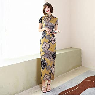 Chinese Ethnic Cheongsam Women'S Lace Dress