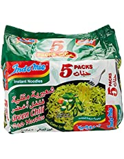 Indomie Green Chilli Fried Noodles, 5 X 80 g (Pack of 1)