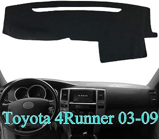 غطاء لوحة القيادة AKMOTOR لوحة القيادة لسيارة Toyota 4Runner 2003 2004 2005 2006 2007 2008 2009 (أسود) Y17