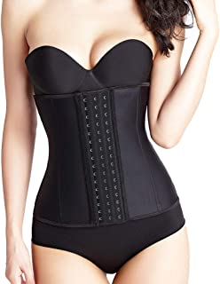 Atbuty Waist Trainer Corset Women's Latex Workout Waist Cincher Best Body Shapewear Girdle