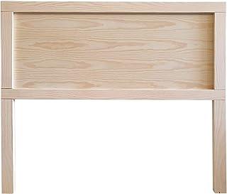 Muebles pejecar cabecero de Madera para Cama de 90 Fabricado en Madera de Pino Acabado en Crudo