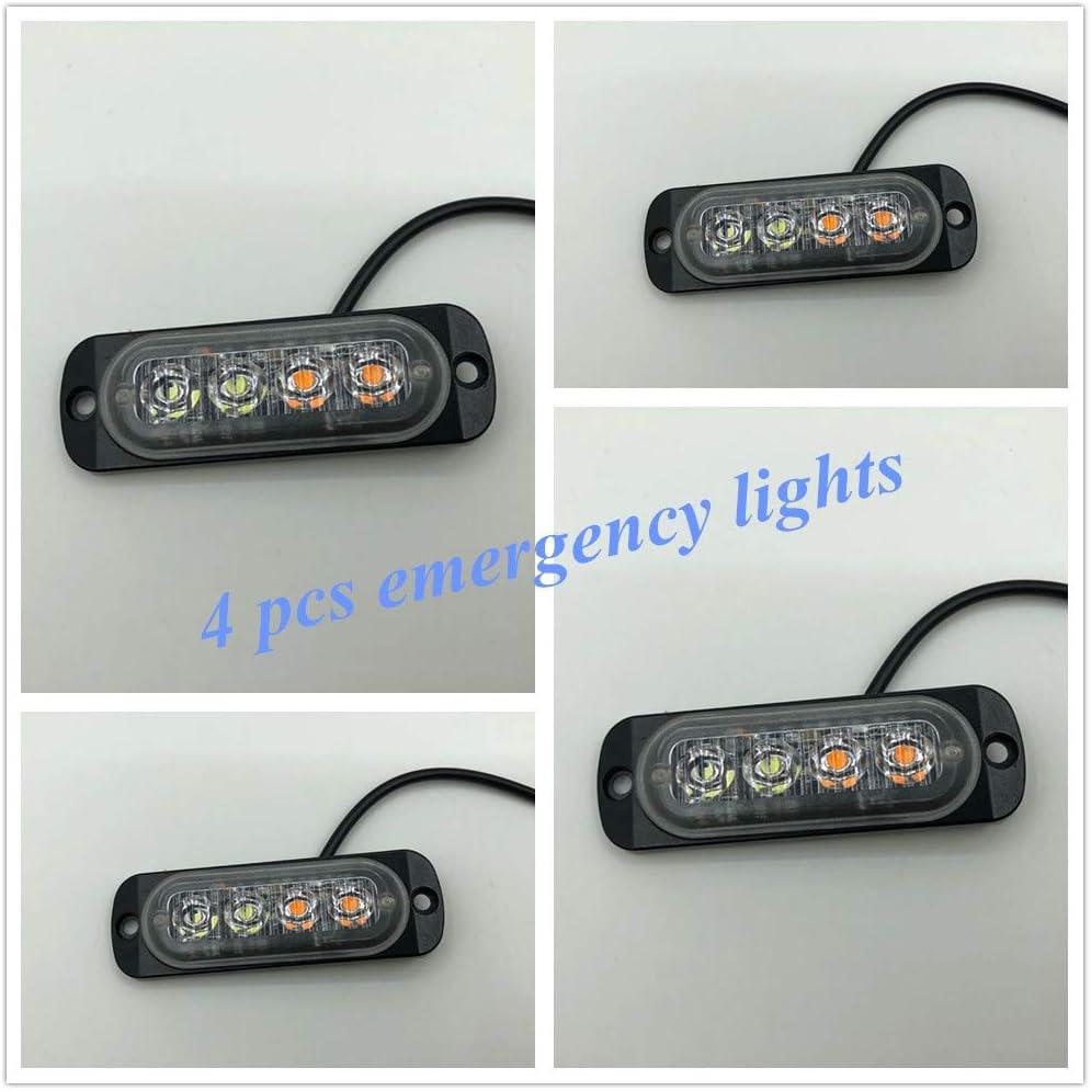 Vivid Light Bars 4 pcs 12W L Strobe Emergency Max Ranking TOP13 66% OFF Car Warning Trucks