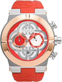 Mulco Celtic Swiss Quartz Chronograph Movement Womens Watch | Premium Celtic Embossed Symbol Sundial with Coral