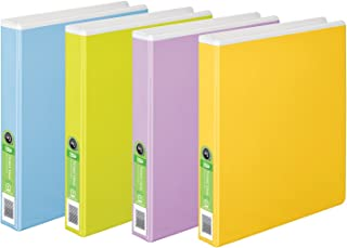 Wilson Jones Tinted View Round Ring Binder, 1 Inch, Customizable, White with Assorted Color Overlay, Case of 6 (W68552PP)
