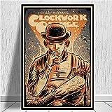 Kemeinuo Cuadros Modernos Póster de película Naranja mecánica Pared café Arte decoración póster decoración del hogar 60x90cm