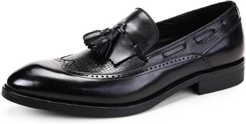 HAPPYSHOP (TM Brogue Tassel Mans skor Pointed Toe Derbies Oxfords Oxfords Oxfords Business läder skor svart  begränsad utgåva