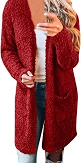 Long Fleece Cardigans for Women with Pockets