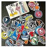 YCYY Luggage Stickers Set Sport Basketball Teams Logo Stickers Toys PVC Waterproof Decal Fridge Skateboard Room Decorate 35Pcs/Set