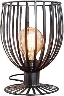 SMEJS Lámpara de Mesa - Lámpara de Mesa Decorativa Minimalista nórdica Creativa de Hierro Forjado (Color : A)