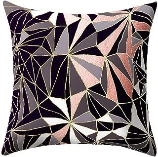 DORIC Rose Black Gold Cushion Cover Square Pillowcase Home Decoratio