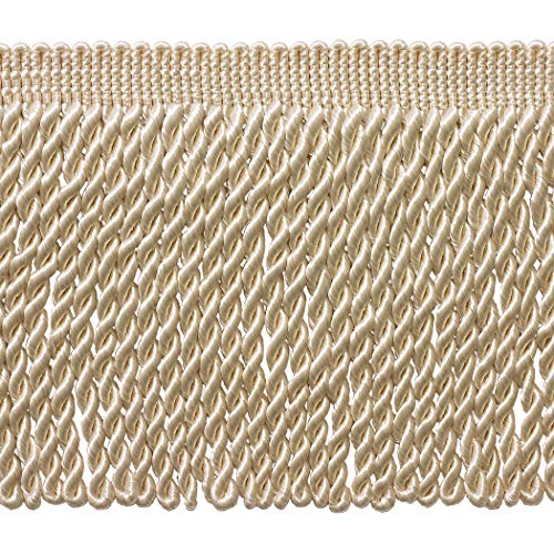 Style# BFS9 Color: White A1 9 Inch Bullion Fringe Trim Sold By the Yard