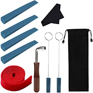Piano Tuning Kit, INTSUN Professional Piano Tuner Kit, Including Tuning Wrench Hammer, Felt Temperament Strip, Rubber Mute...