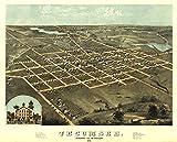 Tecumseh, Michigan - (1868) - Panoramic Map (16x24 Giclee Gallery Print, Wall Decor Travel Poster)
