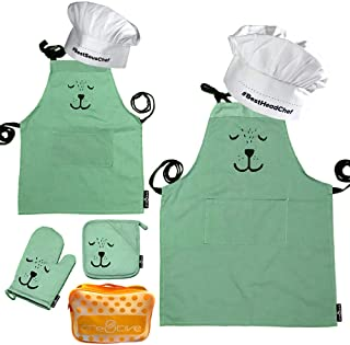 matching aprons for mom and son