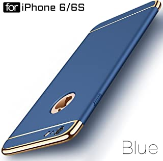 """Ron *3-in-1 Dual Layer Thin Back Cover Case for Apple iPhone 6/6S"""" (Blue)"""
