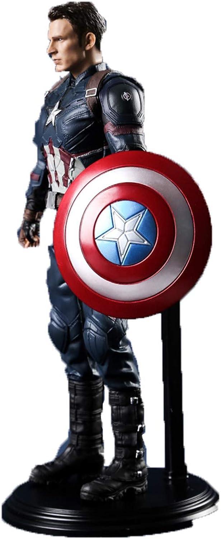 calidad fantástica WYZBD Modelo de Personaje de la la la película Capitán América Artesanía Avengers Exquisita colección de muñecas realistas Gran 28 cm  salida para la venta