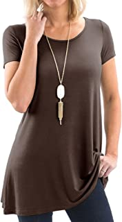 Posh by Anna Women's Designer Short & Long Sleeve Symmetrical Tunic