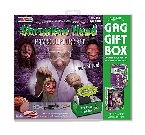 Shrunken Head Gag Wrap Gift Box