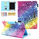 Universal Folio Case for All 6-7 inch Tablet, Coopts PU Leather Stand Cover for Kindle Paperwhite,Fire 7,HDX7,Samsung Galaxy Tab,eBook Reader,Nexus,Dragon Touch,ASUS,Acer,Toshiba,RCA, Colorful Diamond