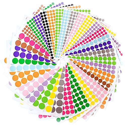 3924 - Pegatinas redondas de colores para álbumes de recortes, bricolaje, regalo ideal para niños
