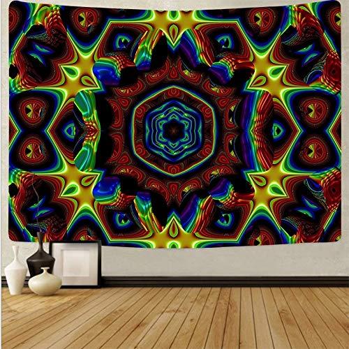 Tapiz de calavera hippie psicodélico sol colgante de pared tapiz bohemio arte revestimiento de pared fondo tapiz de tela A9 130x150cm