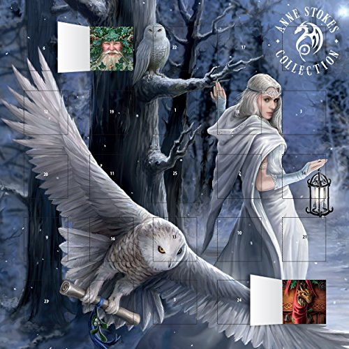 Anne Stokes - Midnight Messenger advent calendar (with stickers)