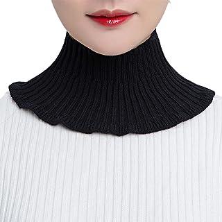 BMBN Afneembare trui, kraag, nep-col, dikke, afneembare nekwarmer, halve top, mock trui, kraag, nekwarmer voor vrouwen, me...