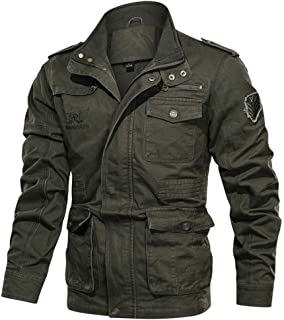 Men's Denim Jacket Big Size Solid Causal Leather Jacket with Stand Collar Tops