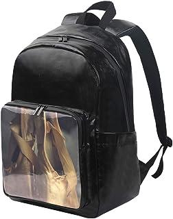 DEZIRO Mochila de lona para zapatos de ballet antiguos, mochilas de viaje, mochila plegable con correas de hombro ajustables para exteriores