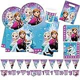 Procos 10110970B Set de fête Disney Frozen Northern Lights Taille XL 52 pièces