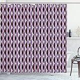 ABAKUHAUS Resumen Cortina de Baño, Las líneas Verticales onduladas, Material Resistente al Agua Durable Estampa Digital, 175 x 200 cm, Multicolor