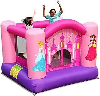 Castillos hinchables Mini Trampolín Interior De Princesa Niños Trampolín Inflable De Tela Oxford, con 90 Kg (Color : Pink, Size : 225 * 225 * 175cm)