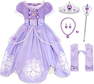 Cotrio Princess Costume Girls Dress Up Outfits Toddler Kids Birthday Party Fancy Dresses