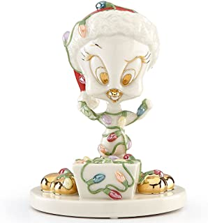 Lenox TWEETY Tangled In Holiday Lights Figurine Warner Bros LOONEY TUNES New by Lenox