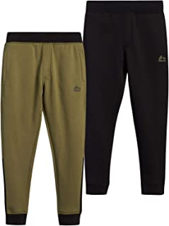 RBX Boys' Sweatpants – Active Warm-Up Track Fleece Jogger Pants (2 Pack)