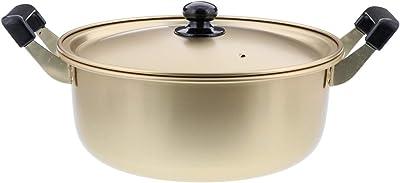 ベストコ 軽くて丈夫なアルミ鍋 ゴールド 26cm しゅう酸ふるさと鍋 ND-8956