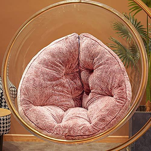 GCP Hamaca De Silla Colgante Cojín De Asiento,Reversible Terciopelo Transpirable Acolchado Estera De Silla Lazy Lounge Cojín De Espalda-Púrpura S(110x60cm)