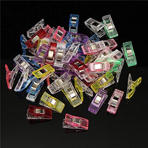 KUNSE 50Pcs 27X10X15mm Clips de Papel de Plástico Elliot Abrazaderas de Carpetas