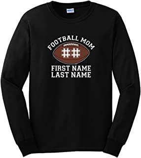 Personalized Football Mom Enter Players Name Number Long Sleeve T-Shirt