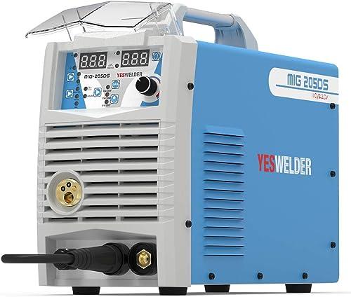 discount YESWELDER Digital MIG-205DS MIG Welder,200Amp 110/220V Dual Voltage, popular Gas Gasless MIG Welding popular Machine MIG/Lift TIG/ARC 3 in 1 Multiprocess Welder sale