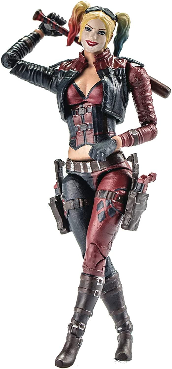 Hiya Toys Injustice 2  Harley Quinn 1  18 Scale Action Figure, 3.75 , Multicolor