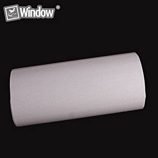 [hoho] One-way vidrio de privacidad película para ventana de adhesivo de vinilo de perforado negro Wrap película 0,5m