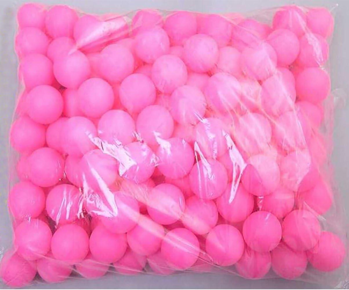 Coface 150Pcs Scrub Mesa de ping pong pelota de ping pong Bolas de la lotería Rose