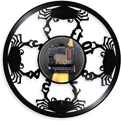HDNFW Reloj de Pared de Vinilo Tattoo Studio Vinyl Record Reloj de ...