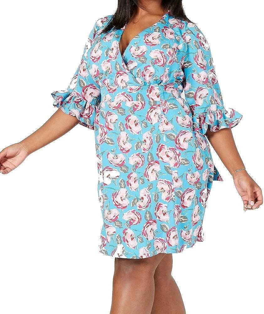 Betsey Johnson Women's Plus-Size Boho Bell Sleeve Dress